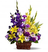 Funeral Flowers: Basket of Memories