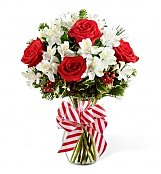 Flower Bouquets: Holiday Peppermint Bouquet