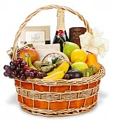 Wine & Fruit Baskets: Champagne Fruit Gourmet