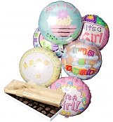 Balloons & Chocolate: New Baby Balloons & Chocolate-6 Mylar