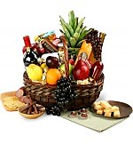 Wine & Fruit Baskets: Executive Wine, Fruit & Gourmet